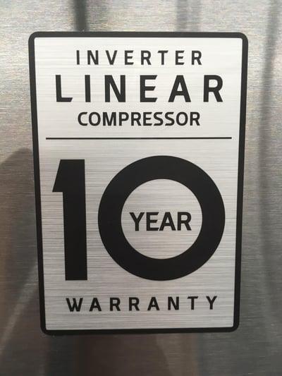 LG Linear Compressor Warranty Badge 05.30.18