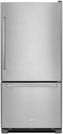 Largest Bottom Freezer Refrigerator KITCHENAID KRBR102ESS