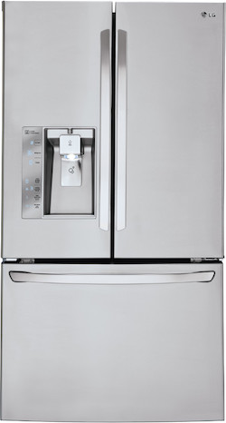 Refrigerator with largest freezer - LG LFXS30726S