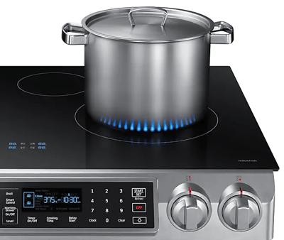 Samsung NE58K9560WS Induction Range - Virtual Flame Technology