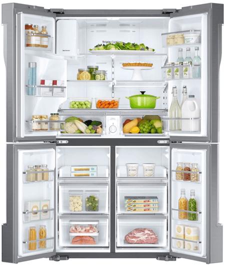 Samsung RF28K9070SR 4 Door Flex Refrigerator Interior
