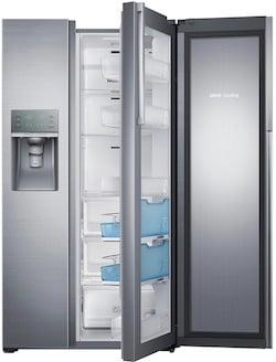 Door in Door Refrigerator_Samsung RH22H9010SR Food ShowCase Side by Side Refrigerator Open