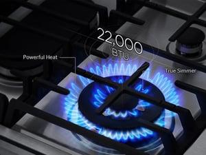 Sealed Burner - Stacked burner example Samsung NY58J9850WS