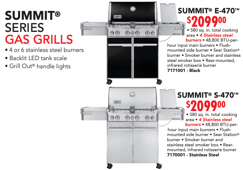 Summit 470 Series Gas Grills - Weber Poster 2019