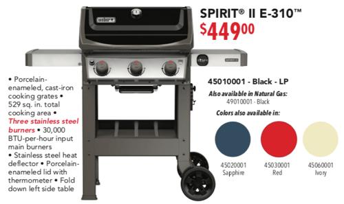 Weber Spirit E 310 Grill Poster Pricing 2019