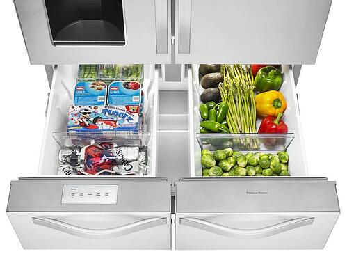 Whirlpool Double Drawer Refrigerator Detail Image