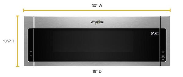 Whirlpool Low Profile Microwave Dimensions