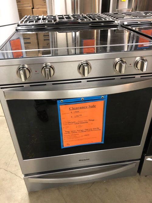 Whirlpool WEE750H0HZ Slide In Electric Range Clearance