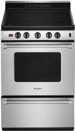Whirlpool WFE500M4H 24 inch Smooth Top Electric Range