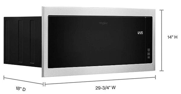 Whirlpool WMT50011KS Built In Low Profile Microwave Dimensions Cropped