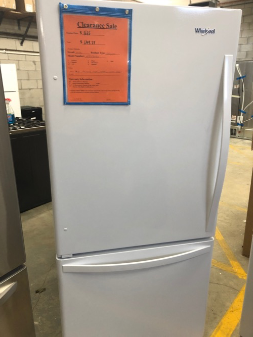 Whirlpool WRB329DMBW Bottom Freezer Refrigerator Clearance