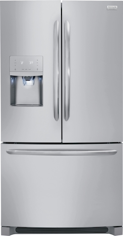 Side by side vs French door - Frigidaire Gallery FGHD2368TF Counter Depth French Door Refrigerator