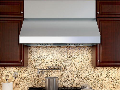 kitchen ventilation buying guide - professional range hood - Zephyr AK7536BS wall mount