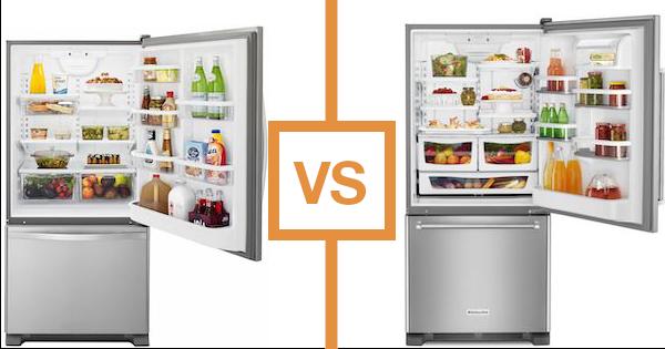Best Bottom Freezer Refrigerator Kitchenaid Vs Whirlpool