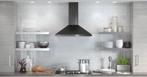 Black Stainless Steel Range Hood Models 6 Chimney Hood
