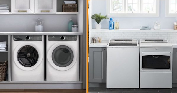 Above the Fold Image Front Load vs Top Load Washer